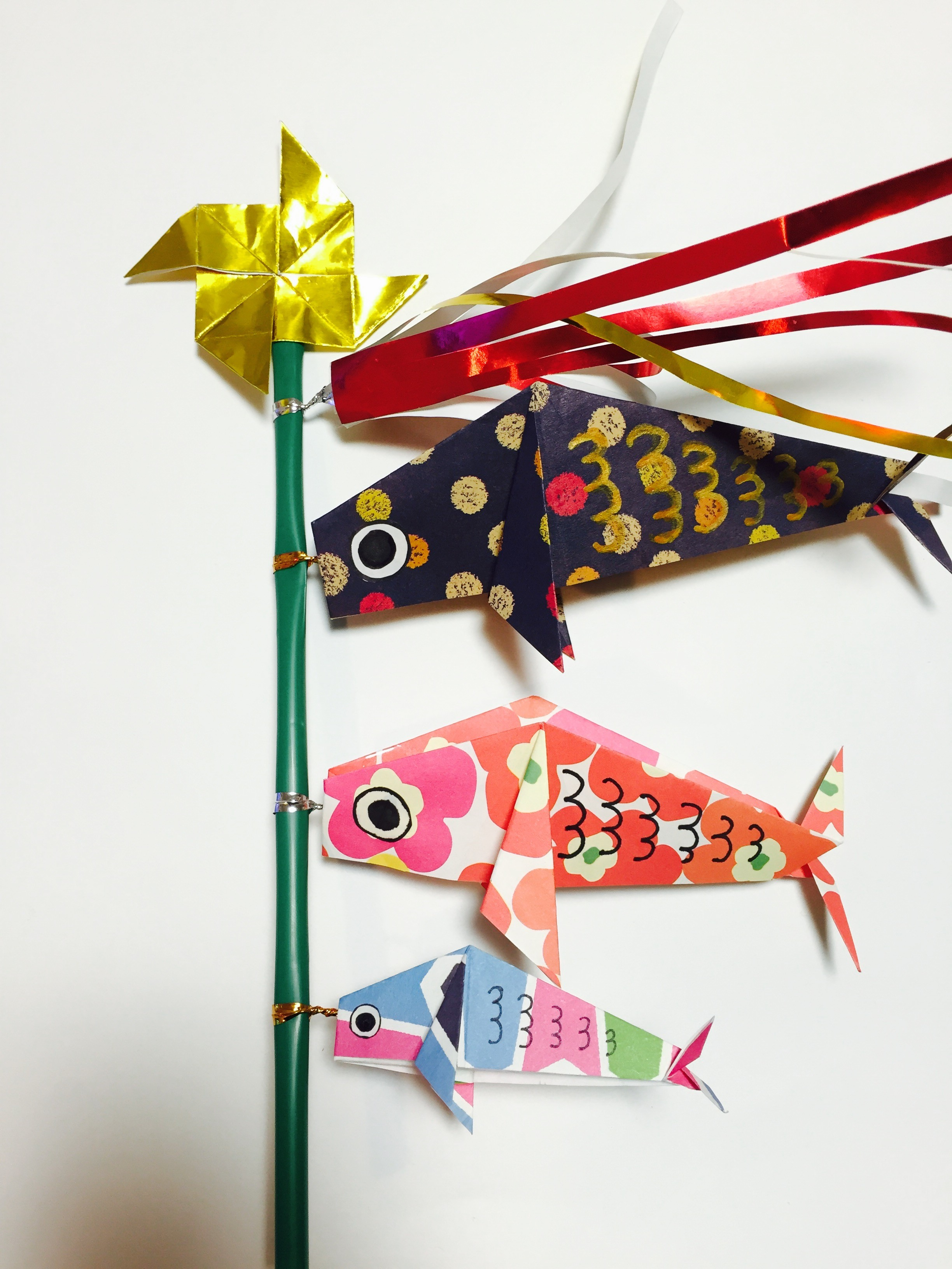 鯉のぼり 折り紙 簡単