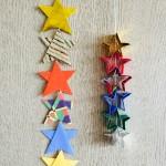 七夕飾り折り紙 簡単な星と立体的な星の折り方 繋げて星つづりに