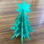 クリスマスツリー折り紙の折り方 立体ツリー2パターン