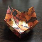 花の形 折り紙の箱の折り方☆節分の豆まきやお菓子入れに