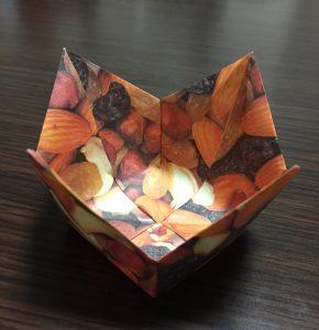 箱 折り紙 花