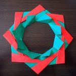 クリスマスリース折り紙