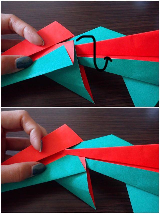 クリスマス リース折り紙 簡単