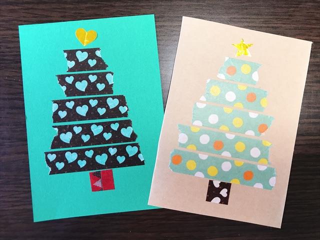簡単 クリスマスカード 手作り