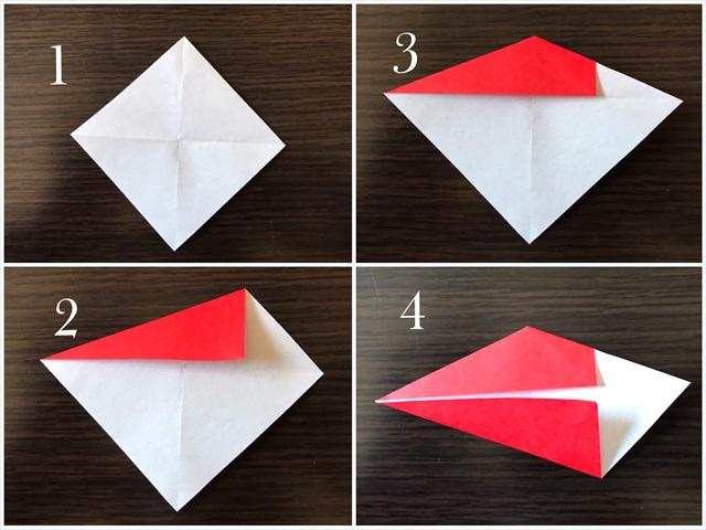 リース 折り紙 折り方
